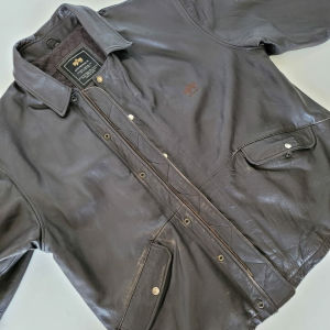 Alpha Industries USA Leather Jacket XXL Ανδρικο δερμάτινο Μποφαν Πανωφόρι Τζάκετ