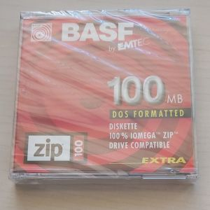 BASF BY EMTEC ΔΙΣΚΕΤΑ DOS FORMATTED ZIP 100 MB