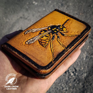 CUSTOM Δερμάτινο πορτοφόλι χειροποίητο, σκαλιστα σχεδια στο χέρι επιλογή σας