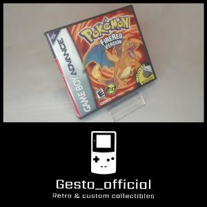 Pokemon Fire Red Gameboy Advance custom case