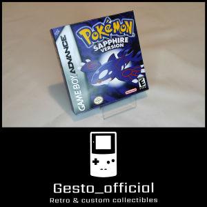 Pokemon Sapphire Gameboy Advance custom box Gesto_official