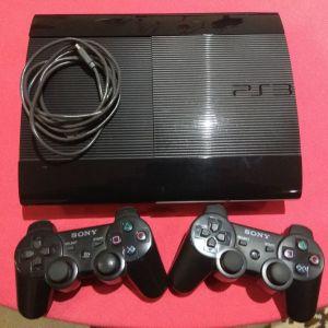PS3 Super Slim 1TB με 2 χειριστήρια Αυθεντικά SONY