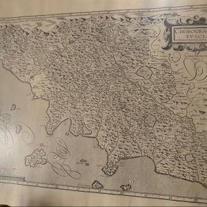 Florimi Matteo (1540-1615), Chorographia Tusciae. Girolamo Bellarmato Senese Autore σπανιοτατος χάρτης του 1600
