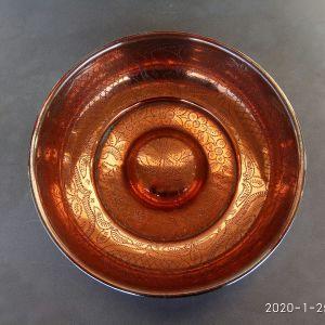 Λεκανάκι ( Τάσι) χάλκινο σκαλιστό, διαμέτρου 20,50 εκατοστών
