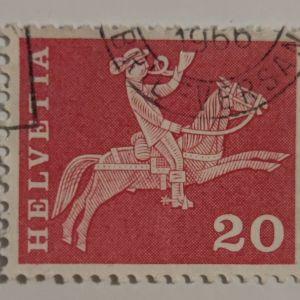 Ελβετικό γραμματόσημο (1960)