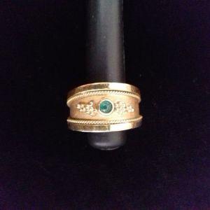 18k δαχτυλίδι με φυσικό Σμαράγδι