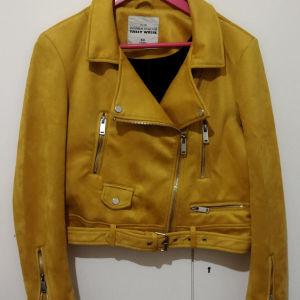 Biker jacket suede