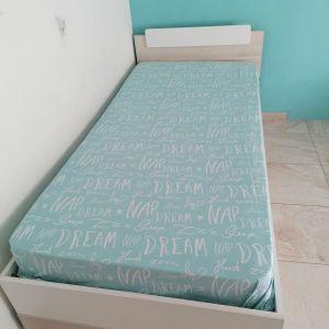2 Μονά κρεβάτια με στρώμα