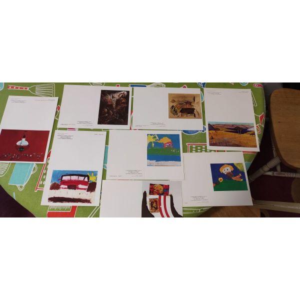 kart postal - dimotiki pinakothiki larisas dekaetias 90