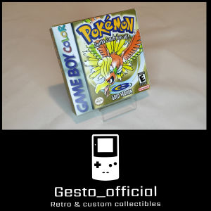 Pokemon Gold Gameboy Color custom box Gesto_official