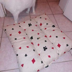 Κρεβατάκι - μαξιλάρα 2 όψεων για γάτα ή σκύλο