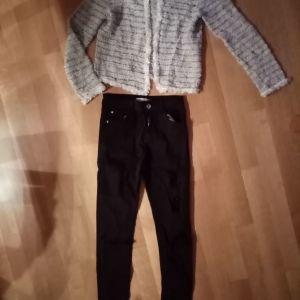 Bershka παντελονι και h&m ζακετακι xsmall