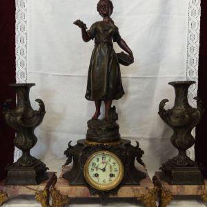 Ρολόι γαλλικό επιτραπέζιο παλιάς εποχής