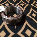 Ατσαλινο unisex δαχτυλιδι