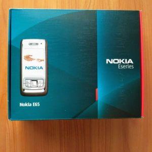 Κινητό Nokia E65, πλήρως λειτουργικό, στο κουτί του, με φορτιστή, hands free & καλώδιο δεδομένων