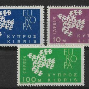 CYPRUS  - 1961 -  EUROPA CEPT - UNMOUNTED MINT