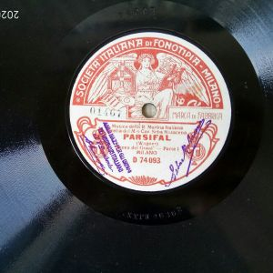 Δίσκος 78 στροφών PARSIFAL OPERA, Wagner. Δημιουργία μουσικής, 13 Ιανουαρίου 1882. SOCIETA ITALIANA Di FONOTIPIA MILANO