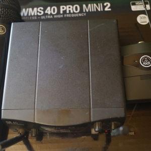 Akg WMS-40 MINI-2 MIX Διπλό ασύρματο σετ μικροφώνου χειρός και instrument