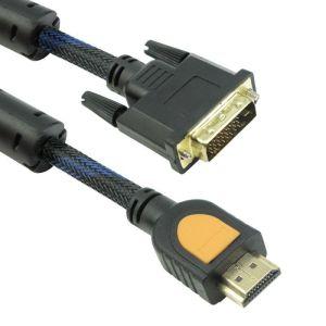 Καλώδιο DeTech HDMI Σε DVI, 3m, Φερρίτη, HQ, Μαύρο