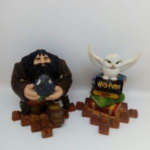 Φιγούρες Harry Potter, Hagrid and Hedwig by Enesco group, mini figurine Harry Potter