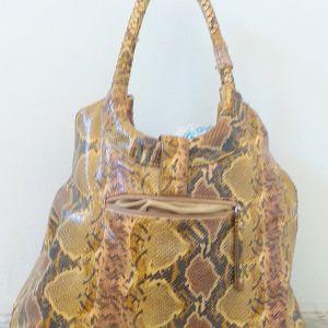 Τσάντα κροκοδιλέ  γυναικεία πλάτης και χειρός , αχρησιμοποίητη σε άριστη κατάσταση,