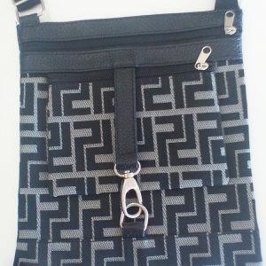Τσάντα ώμου μαύρο γκρι