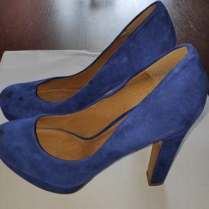 ALDO Ψηλοτάκουνες γόβες, Νr 38, suede, Royal Blue
