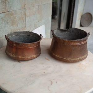 Δύο (2) χάλκινα σκεύη