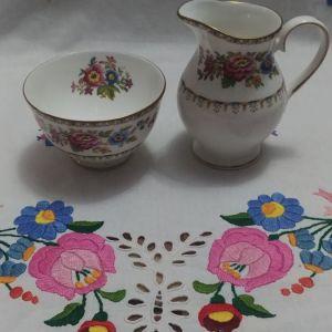 """Μεγάλη γαλατιερα και ζαχαριερα Royal Grafton """"Malvern"""" fine bone china 1960-1972"""