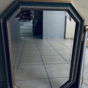 Καινούριος καθρέπτης με χειροποίητες λεπτομέρειες 80x60.