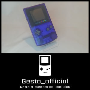 Game boy color (Clear Blue) Gesto_official