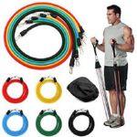 Σετ λάστιχα ισομετρικής γυμναστικής με λαβές και 5 διαφορετικές ζώνες αντιστάσεως
