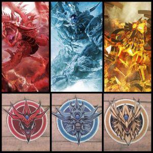 "Yu-Gi-Oh! ""Egyptian Triad"" Godlike Magnets"