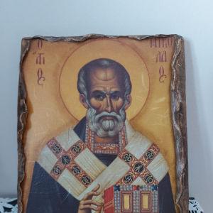 Χειροποίητη Εικόνα Αγίου Νικολάου