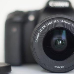 DSLR Canon70d με φακό EFS 10-18MM F/4.5-5.6