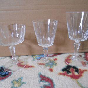 Κρυστάλλινα ποτήρια vintage - 25 τεμάχια