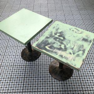 Τραπέζια με σιδερένια βάση