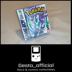 Pokemon Crystal Gameboy Color custom box Gesto_official