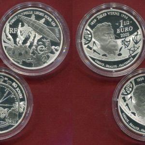 Γαλλία ασημένιο νόμισμα 3 x 1 1/2 ευρώ, 1,5 Euro 2005