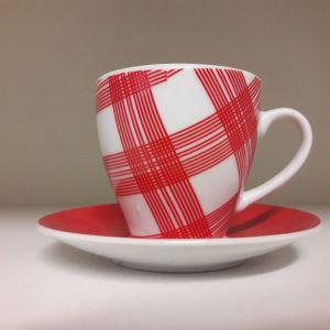 Καινούρια καρό φλυτζάνια του καφέ