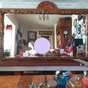 Καθρεπτης μπιζουτε σε βαρια κορνιζα 137 Χ 80 εκ.