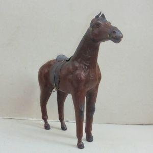 Άλογο μινιατούρα δερμάτινο, vintage.