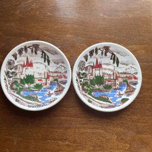 2 Vintage Μικρά Πιατάκια