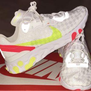 "Nike react element 55 ""white/crimso"