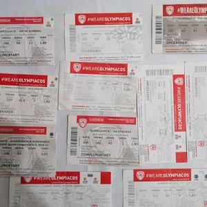ΟΛΥΜΠΙΑΚΟΣ ΕΙΣΙΤΗΡΙΑ ΜΠΑΣΚΕΤ ΑΓΩΝΙΣΤΙΚΕΣ ΠΕΡΙΟΔΟΙ 2017-18 & 2018-19 (11 εισιτήρια)