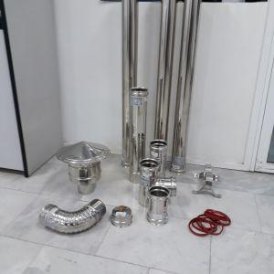 Πωλειται σετ μπουριων για σομπα πελλετ 0.40mm ανοξείδωτο χάλυβα AISI 304 ARTITUBE