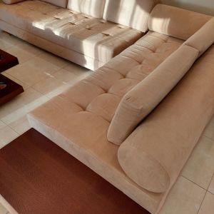 Γωνιακός καναπές αποσπώμενος σε 2 τμηματα.