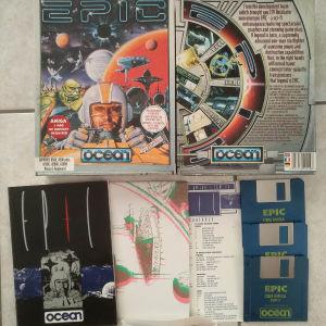 Amiga game Epic + 3D poster