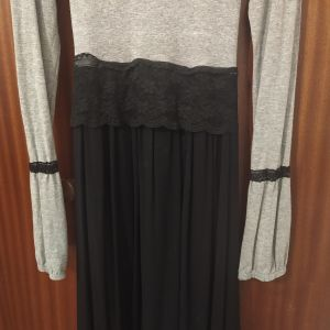 Φόρεμα μαυρο- γκρι