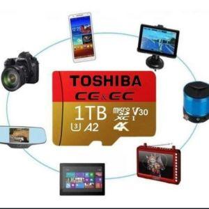 Toshiba 1ΤΕΜ μίνι κάρτα 1TB*2021 New 1TB*1PCS 100%  High Speed Large Capacity  USB Drive Micro SD
